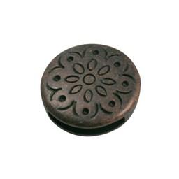 Cuenta DQ Rond bloem dicht brons kleur.