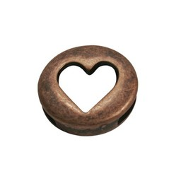 Cuenta DQ Heart  je round copper plating.