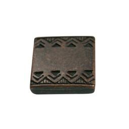 Cuenta DQ slider bead square  celtic edge 13mm copper plating.