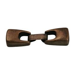 Cuenta DQ Metaal sluiting 2-delig 10mm brons kleur.