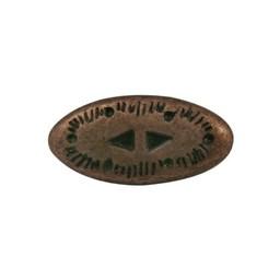 Cuenta DQ rivet western 2-delig copper plating.