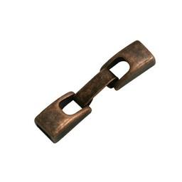 Cuenta DQ Metaal sluiting 2-delig 6mm brons kleur.