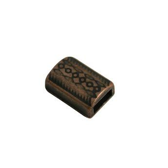 Cuenta DQ slider bead 6mm cultivated copper plating.