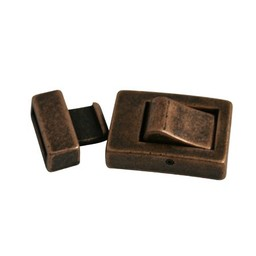 Cuenta DQ Clasp 2-parts klik 13mm copper plating