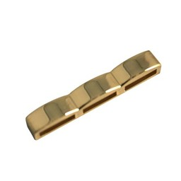 Cuenta DQ H?ndler piecel 3-Loch 38x10mm Vergoldung