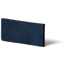 Cuenta DQ Plat leer 13mm Blauw   13mmx85cm