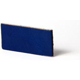 Cuenta DQ Plat leer 13mm Cobalt blauw  13mmx85cm