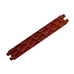 Cuenta DQ wristband leather 29mmx16,5cm crocodile print cognac