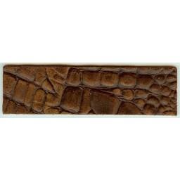 Cuenta DQ leerband bruin crocodile print 14.5cmx40mm