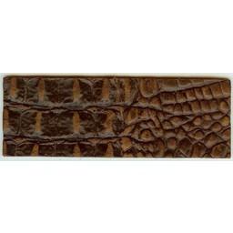Cuenta DQ Armband aus braunem Leder Kroko-Print 14.5cmx50mm
