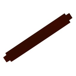 Cuenta DQ bracelet strap leather brown shine finish 24mm M