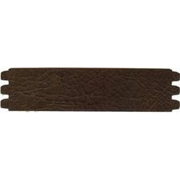 Cuenta DQ bracelet strap leather crackle dark brown 44mmx18.5cm medium size
