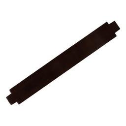 Cuenta DQ dunkelbraune Lederarmband  Glanz Finish 24mm mittlerer groose