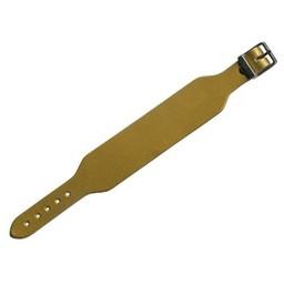 Cuenta DQ leerband goud met gesp 34mm