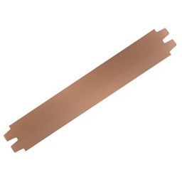 Cuenta DQ bracelet strap leather licht brown 29mm