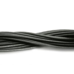 Cuenta DQ leather cord 2mm grey metallic 1 meter