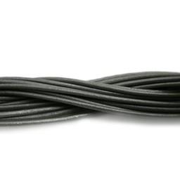 Cuenta DQ leather cord 2mm grey metallic 2 meter