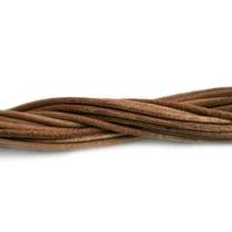 Cuenta DQ leather cord 2mm cognac 2 meter (6 Feet)