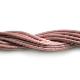 Cuenta DQ leather cord 2mm rose with 1 meter