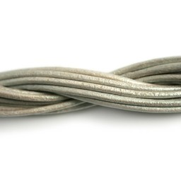 Cuenta DQ leather cord 2mm sea shell metallic 2 meter