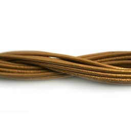 Cuenta DQ lederband  2mm sun metallic 1 meter .
