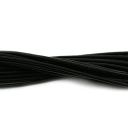 Cuenta DQ leather cord 2mm black 1 meter