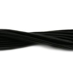 Cuenta DQ Leerveter rond 2mm zwart 1 meter