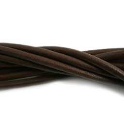 Cuenta DQ leather cord 4mm brown 100cm