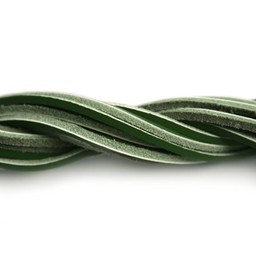 Cuenta DQ lederband square 2mmx85cm dark green