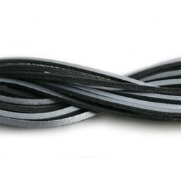 Cuenta DQ lederband square 2mmx85cm zilver