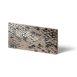 Cuenta DQ leather wristband strip Beige reptiel-snake 10mmx85cm