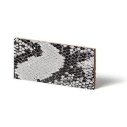 Cuenta DQ Plat leder Grijs reptiel-snake 13mmx85cm