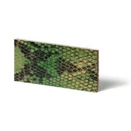 Cuenta DQ leather wristband strip Lime reptiel-snake 10mmx85cm