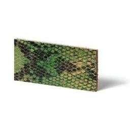 Cuenta DQ Lederarmband Streifen Lime Reptil Schlange 10mmx85cm