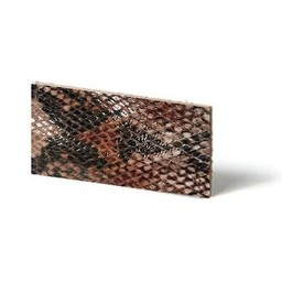 Cuenta DQ leather wristband strip Mocca reptiel-snake 10mmx85cm