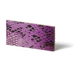 Cuenta DQ Plat leder Purple reptiel-snake 10mmx85cm