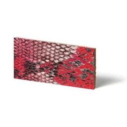 Cuenta DQ Lederarmband Streifen Red Reptil Schlange 10mmx85cm
