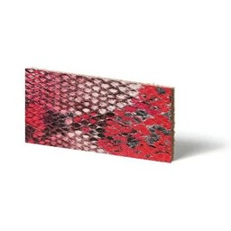 Cuenta DQ Lederarmband Streifen Red Reptil Schlange 13mmx85cm