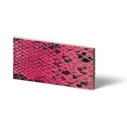 Cuenta DQ Lederarmband rosa Streifen Reptil Schlange 10mmx85cm