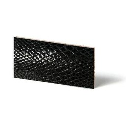 Cuenta DQ Lederarmband Streifen schwarz Reptil Schlange 10mmx85cm