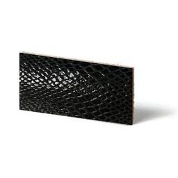 Cuenta DQ Plat leder Zwart reptiel-snake 10mmx85cm