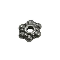 Cuenta DQ bali ring spacer ring Blume 8mm hellplatin