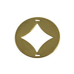 Cuenta DQ charm two eyes finishing touch diamond 29mm gold