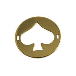 Cuenta DQ Schmuckverbinder Charm 2 osen Platte schoppen 29mm Goldfarbe
