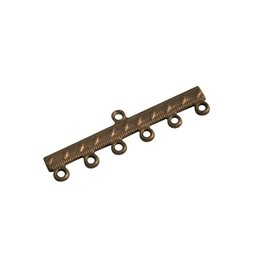 Cuenta DQ final panel 6 eyelets 35mm antique copper