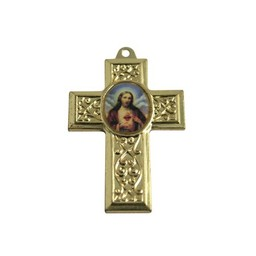 Cuenta DQ jewelry pendant cross with gold metal picture 40x27mm