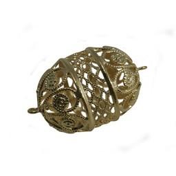 Cuenta DQ bead 28x22mm filigree gold