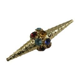Cuenta DQ kraal filigrain multi kristal goudkleurig 67x20mm