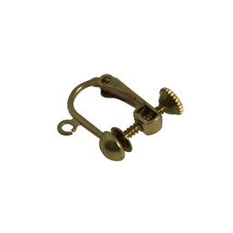 Cuenta DQ ear clip screw clip gold color