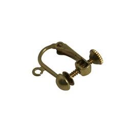 Cuenta DQ ear clip screw clip gold color